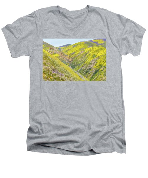 Men's V-Neck T-Shirt featuring the photograph Colorful Canyon by Marc Crumpler