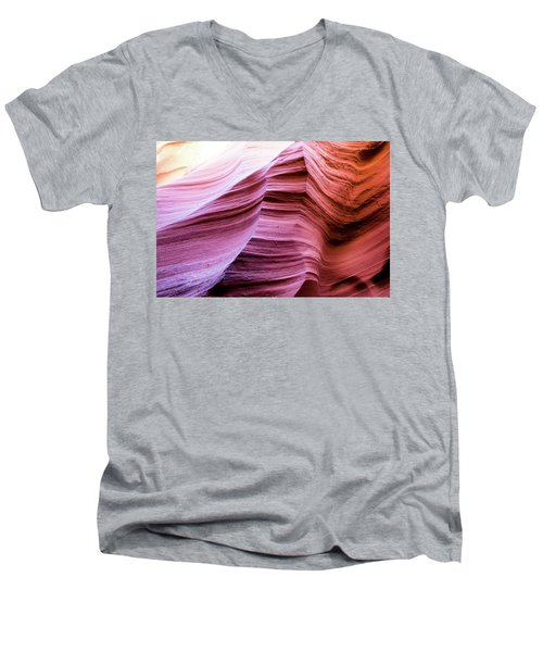 Men's V-Neck T-Shirt featuring the photograph Colorful Canyon by Stephen Holst
