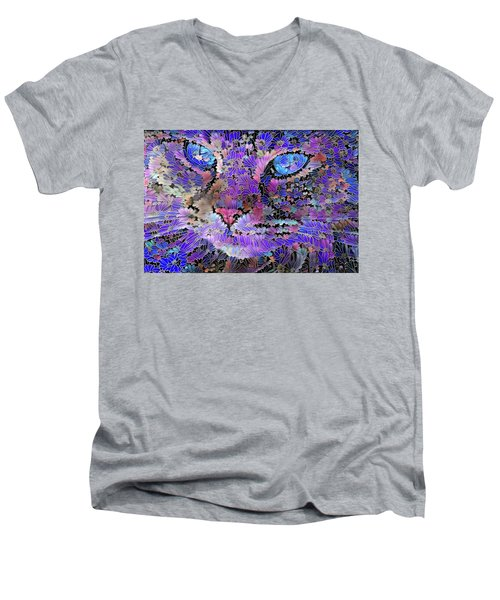 Flower Cat 2 Men's V-Neck T-Shirt