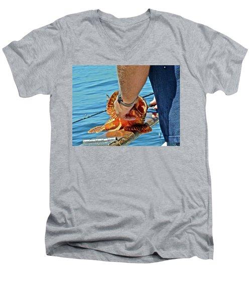 Colorful Catch Men's V-Neck T-Shirt