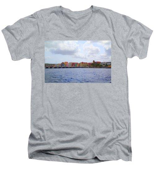 Colorful Curacao Men's V-Neck T-Shirt