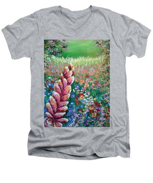 Colorful Day Men's V-Neck T-Shirt