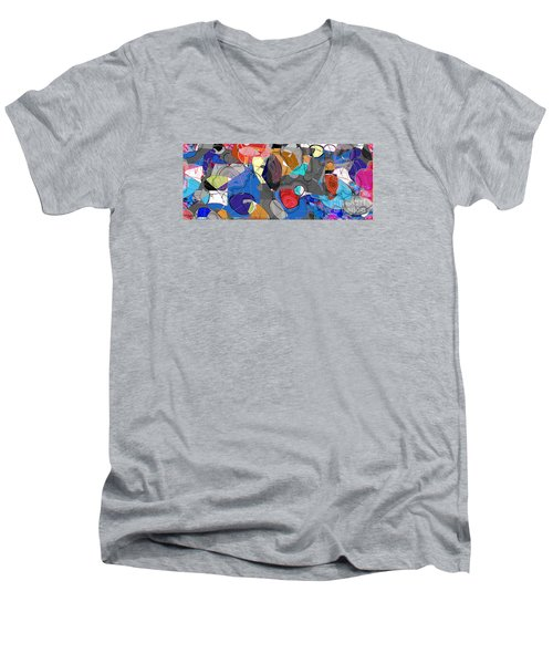 Men's V-Neck T-Shirt featuring the digital art Colorful Daydream by Gabrielle Schertz