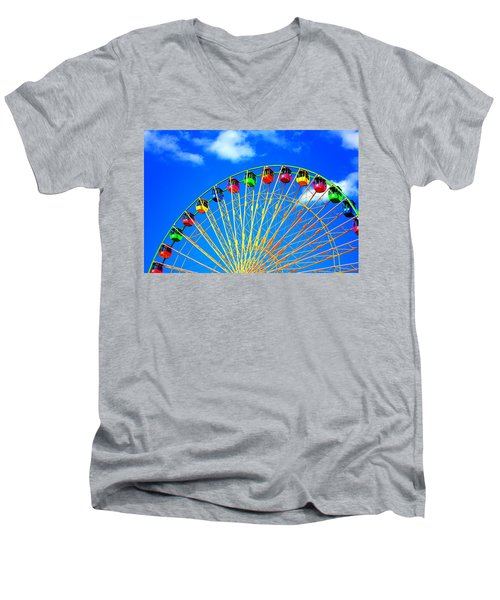 Colorful Ferris Wheel Men's V-Neck T-Shirt