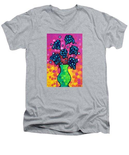 Colorful Flower Bouquet By Sharon Cummings Men's V-Neck T-Shirt