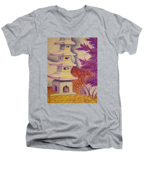 Colorful Garden Men's V-Neck T-Shirt