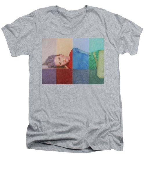 Colorful Girl Men's V-Neck T-Shirt