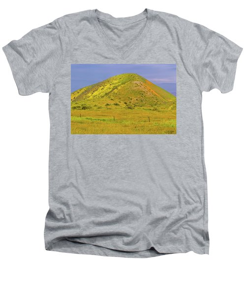 Men's V-Neck T-Shirt featuring the photograph Colorful Hill by Marc Crumpler