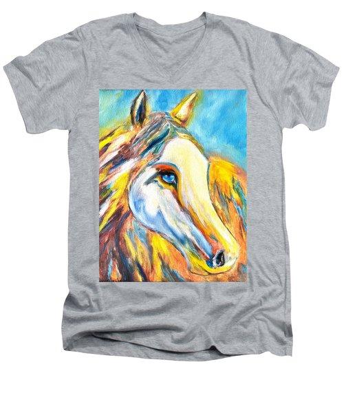 Colorful Horse Sensation Men's V-Neck T-Shirt