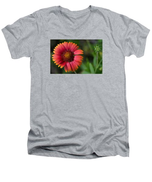 Colorful Indian Blanket Men's V-Neck T-Shirt by Kenneth Albin