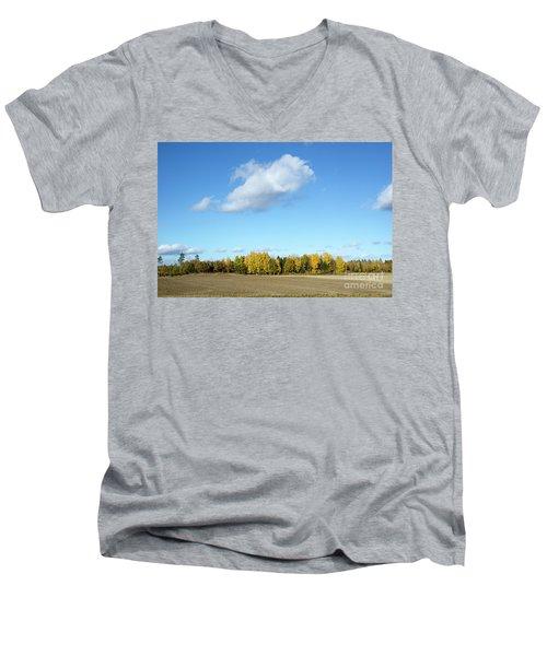 Colorful Landscape Men's V-Neck T-Shirt by Kennerth and Birgitta Kullman