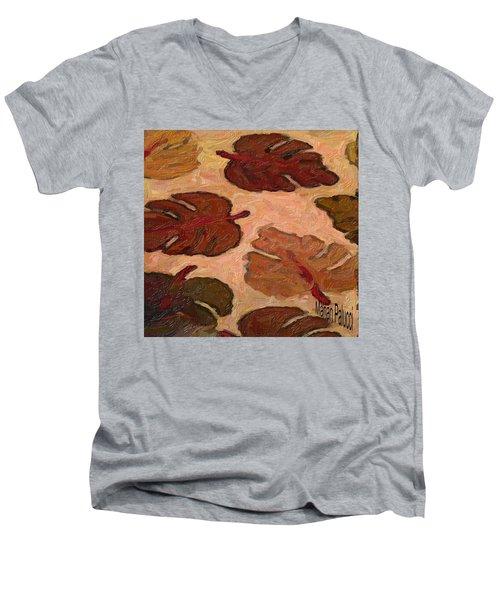 Colorful Leaves Men's V-Neck T-Shirt