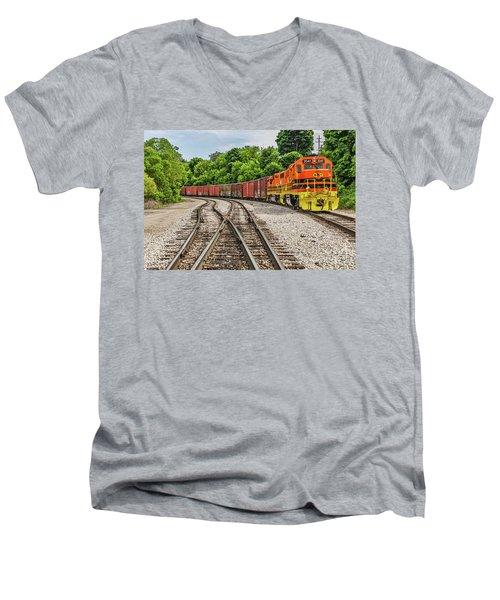 Colorful Marquette Rail Men's V-Neck T-Shirt