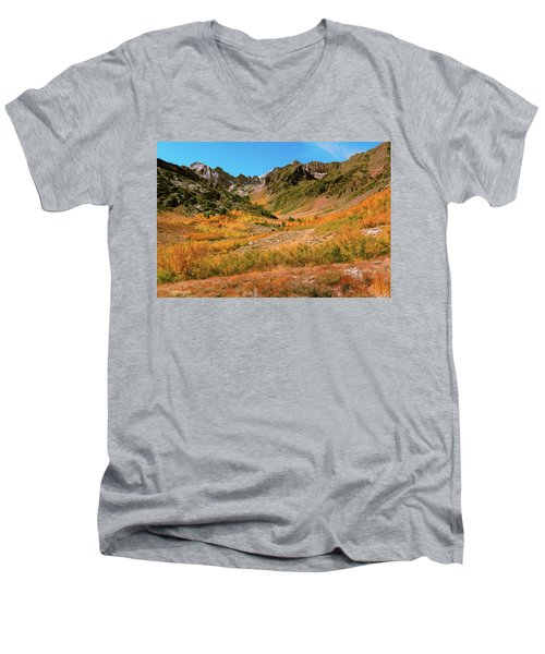 Colorful Mcgee Creek Valley Men's V-Neck T-Shirt