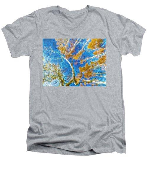 Colorful Mystical Forest Men's V-Neck T-Shirt