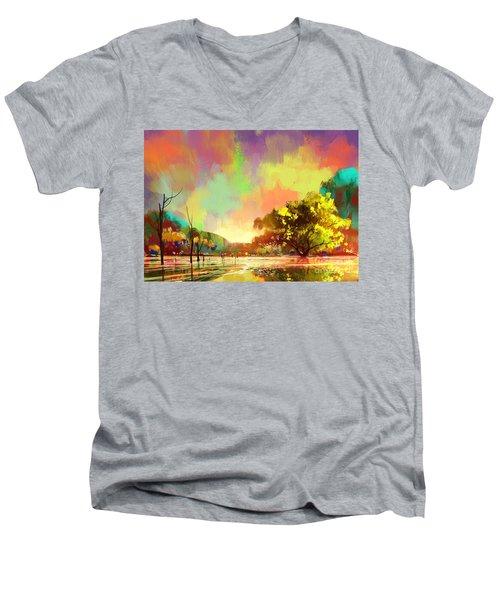 Colorful Natural Men's V-Neck T-Shirt