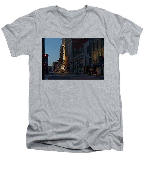 Colorful Night On Gay Street Men's V-Neck T-Shirt