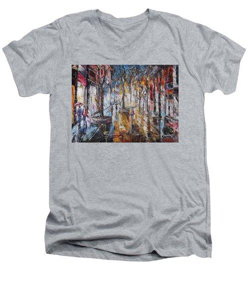 Colorful Night V Men's V-Neck T-Shirt