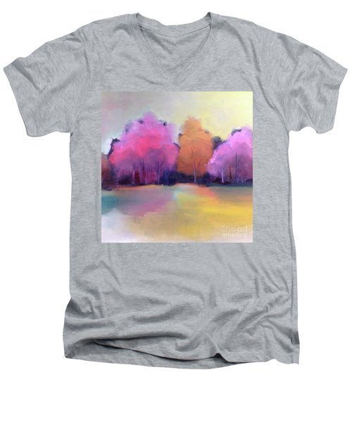 Colorful Reflection Men's V-Neck T-Shirt