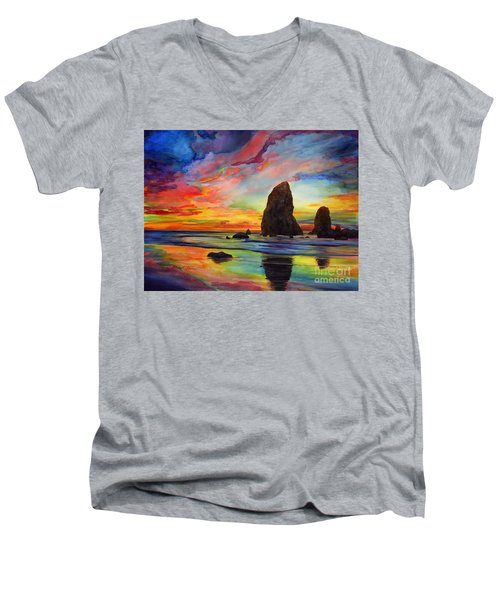 Colorful Solitude Men's V-Neck T-Shirt