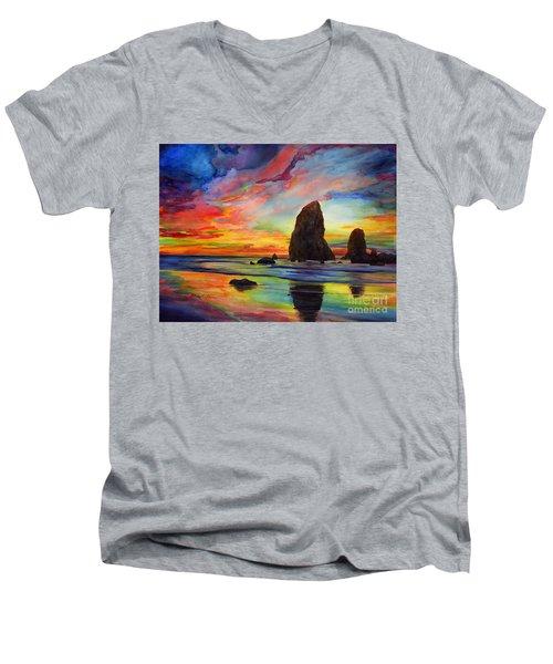 Colorful Solitude Men's V-Neck T-Shirt