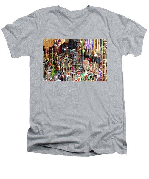 Colorful Space Men's V-Neck T-Shirt