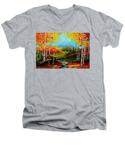 Colorful Spring Men's V-Neck T-Shirt