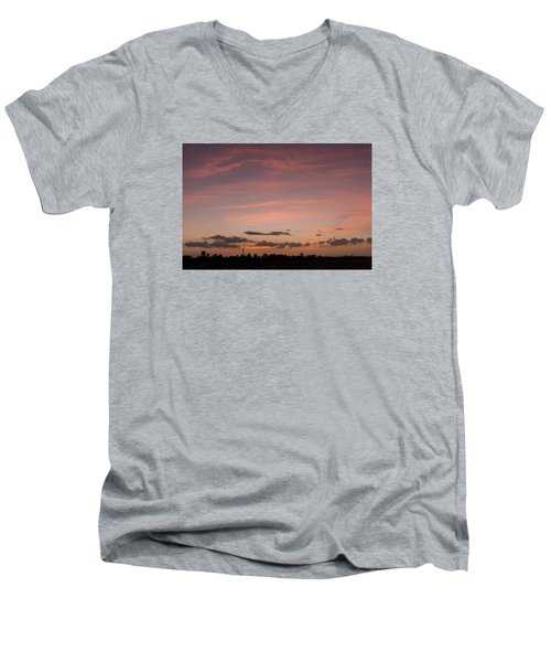 Colorful Sunset Over The Wetlands Men's V-Neck T-Shirt
