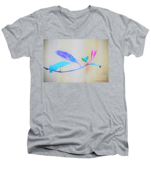 Colorfully Designed Men's V-Neck T-Shirt