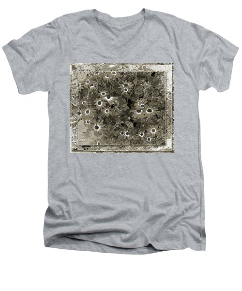Men's V-Neck T-Shirt featuring the photograph Color Me, Please by Barbara R MacPhail