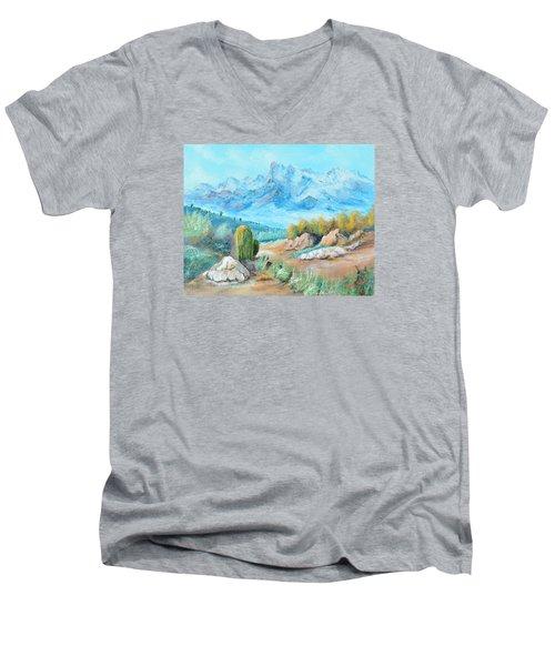 Colors In The High Desert Men's V-Neck T-Shirt