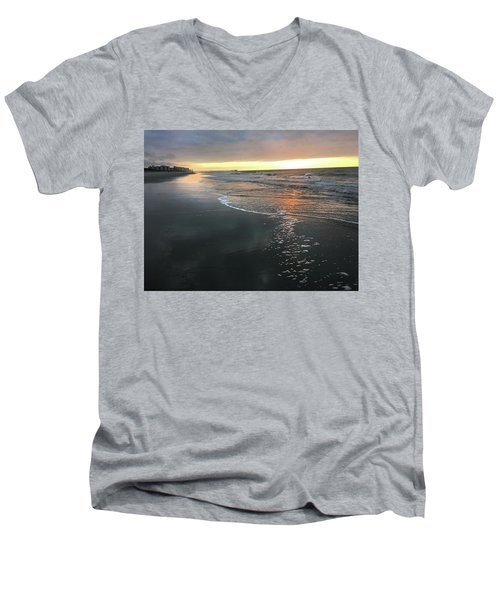 Colors Of A Storm At Sunrise Men's V-Neck T-Shirt