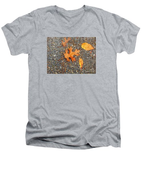 Colors Of Autumn In Montreal Men's V-Neck T-Shirt by Reb Frost