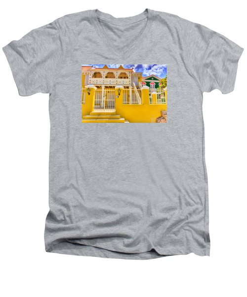 Colors Of Paradise Men's V-Neck T-Shirt by Nadia Sanowar
