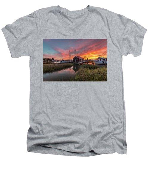 Colors Of Shem Creek - Mt. Pleasant Sc Men's V-Neck T-Shirt