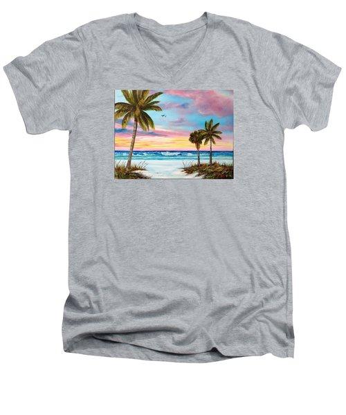 Colors Of Siesta Key Men's V-Neck T-Shirt by Lloyd Dobson