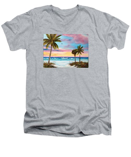 Colors Of Siesta Key Men's V-Neck T-Shirt