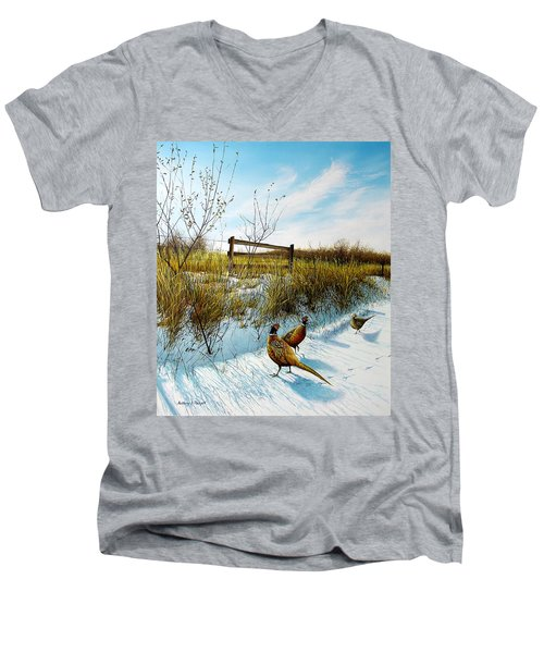 Colors Of Winter - Pheasants Men's V-Neck T-Shirt