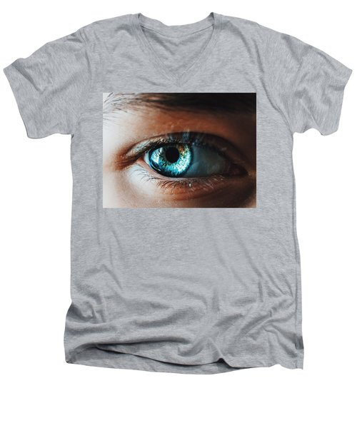 Men's V-Neck T-Shirt featuring the photograph Colors by Parker Cunningham