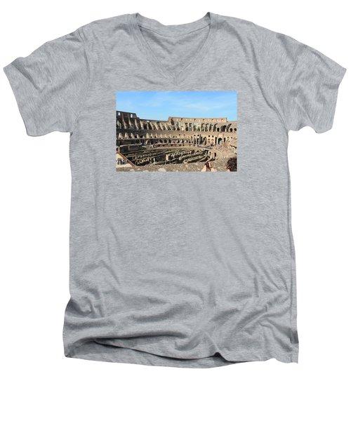 Colosseum Inside Men's V-Neck T-Shirt by Kaitlin McQueen