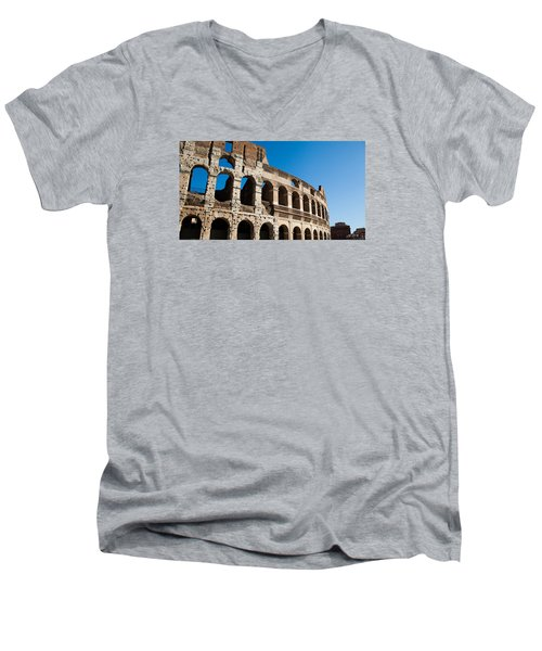 Colosseum - Old And New Men's V-Neck T-Shirt by Ed Cilley