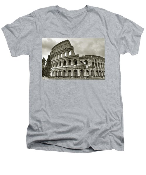 Colosseum  Rome Men's V-Neck T-Shirt