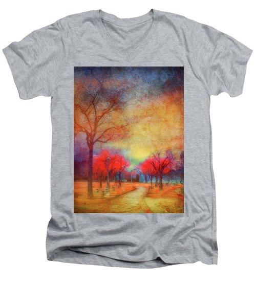 Colour Burst Men's V-Neck T-Shirt