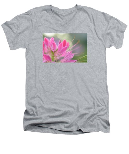 Colourful Greeting II Men's V-Neck T-Shirt by Janet Rockburn