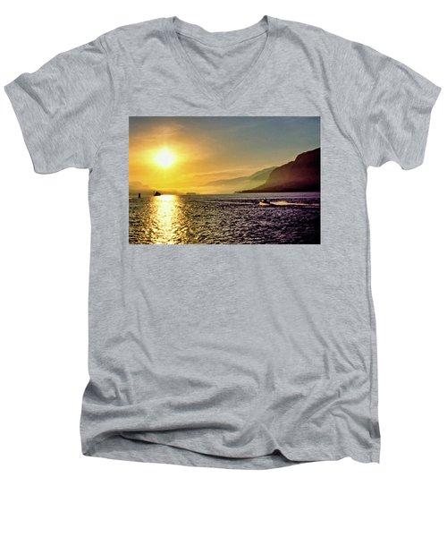 Columbia River 001 Men's V-Neck T-Shirt by Scott McAllister