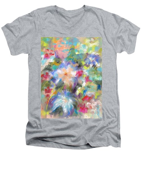 Columbine In The Wildflowers Men's V-Neck T-Shirt by Frances Marino