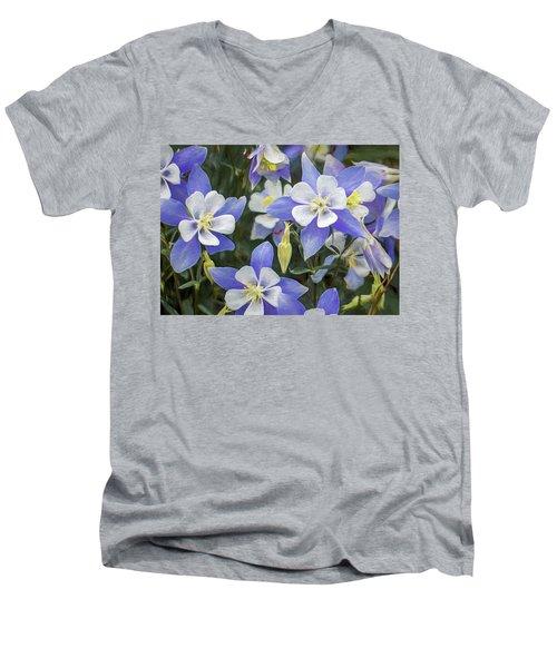 Columbine Men's V-Neck T-Shirt