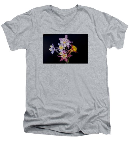 Columbine Medley Men's V-Neck T-Shirt