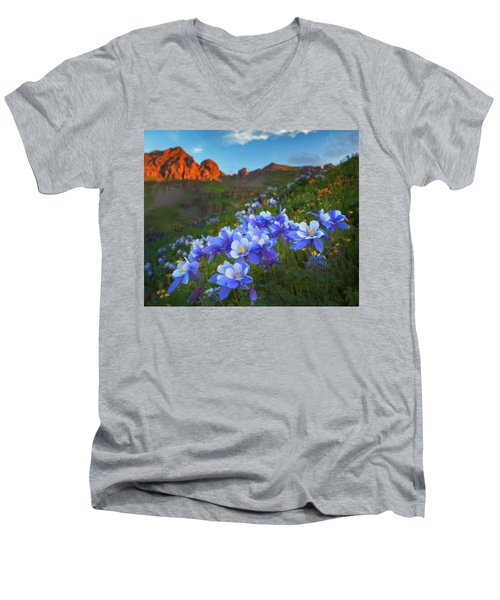 Columbine Sunrise Men's V-Neck T-Shirt
