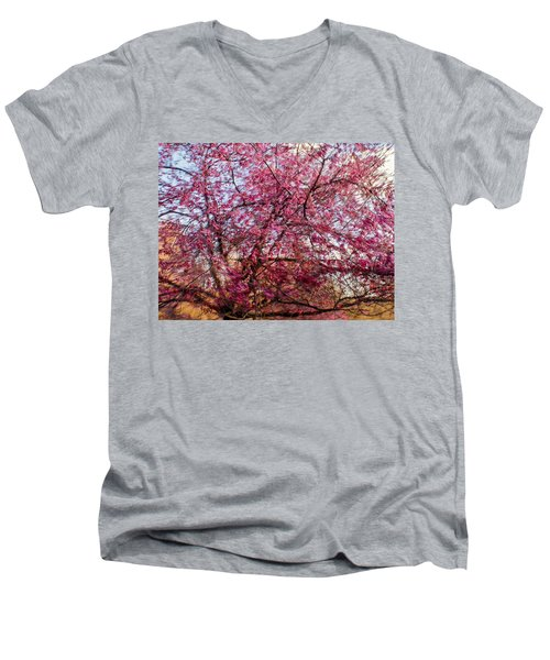 Columnar Sargent Cherry 1 Men's V-Neck T-Shirt by Bernhart Hochleitner